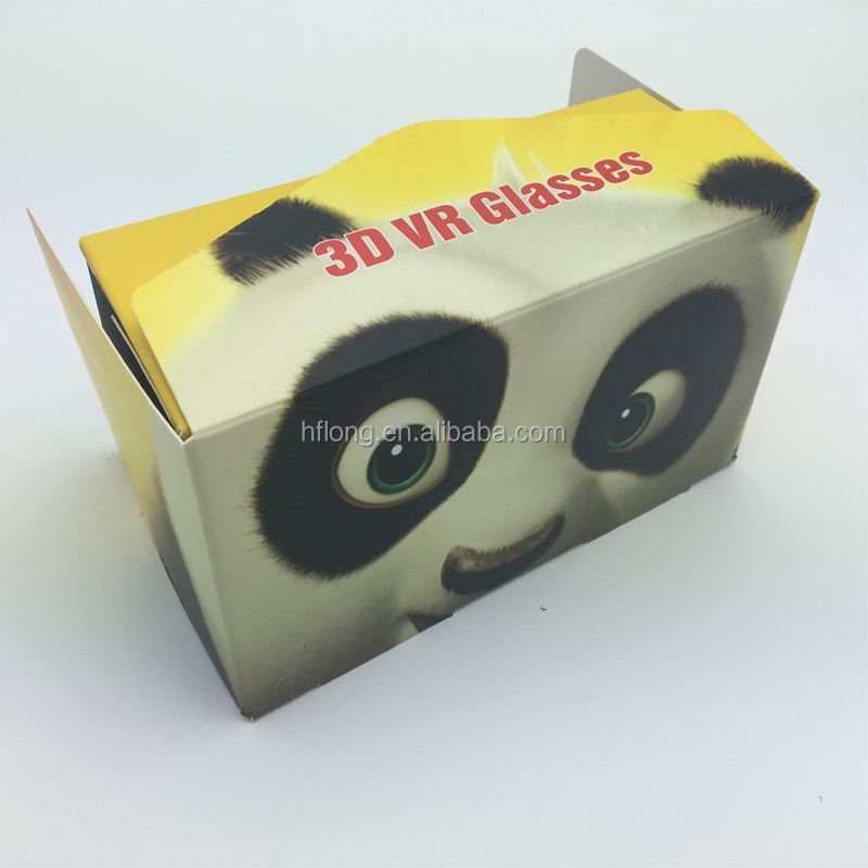 whosale price selling customized paper 3d glasses Virtual Reality VR cardboard box
