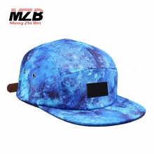 Sublimation printed jewelry pattern Custom made 5 panel camp cap hat