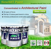 china wholesale natural stone effect paint and coating for building wall