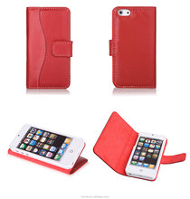 For Apple iPhone 5S Genuine Leather Folding Stand Case Cover