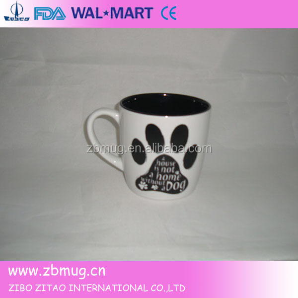 ceramic cute painting dog design mugs color your own mug