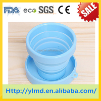 Christmas hot selling silicone rubber folding collapsible reusable drinking coffee cup cheap price of silicone rubber