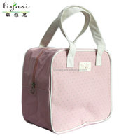 wholesale promotional pink oxford cosmetic bag make up bag for lovely girl travel organizer