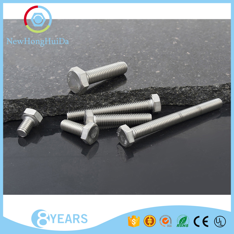 Hot selling wholesale <strong>M8</strong> sizes stainless steel hex head screw