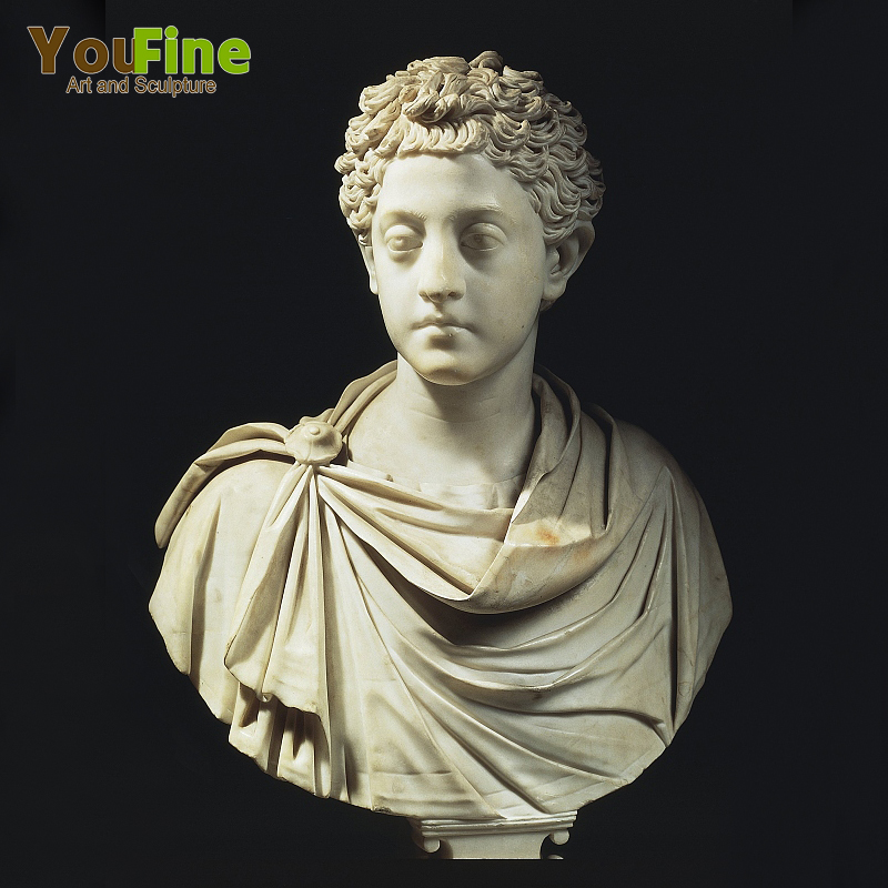 Hand Carved Custom Marble Stone Busts of Roman Man for Sale