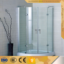 Curved Glass Shower Screen with Clear Glass