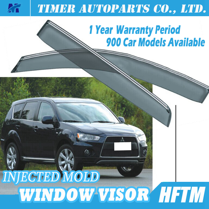 car window rain guards side window deflectors for Mitsubishi outlander 2010