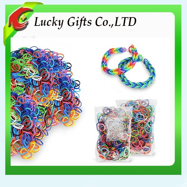 Wholesale Diy Silicone Colorful Rubber Loom Bands