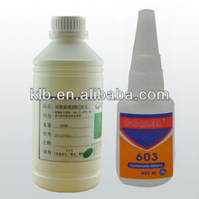 instant adhesive for chemical /conductive silicone adhesive
