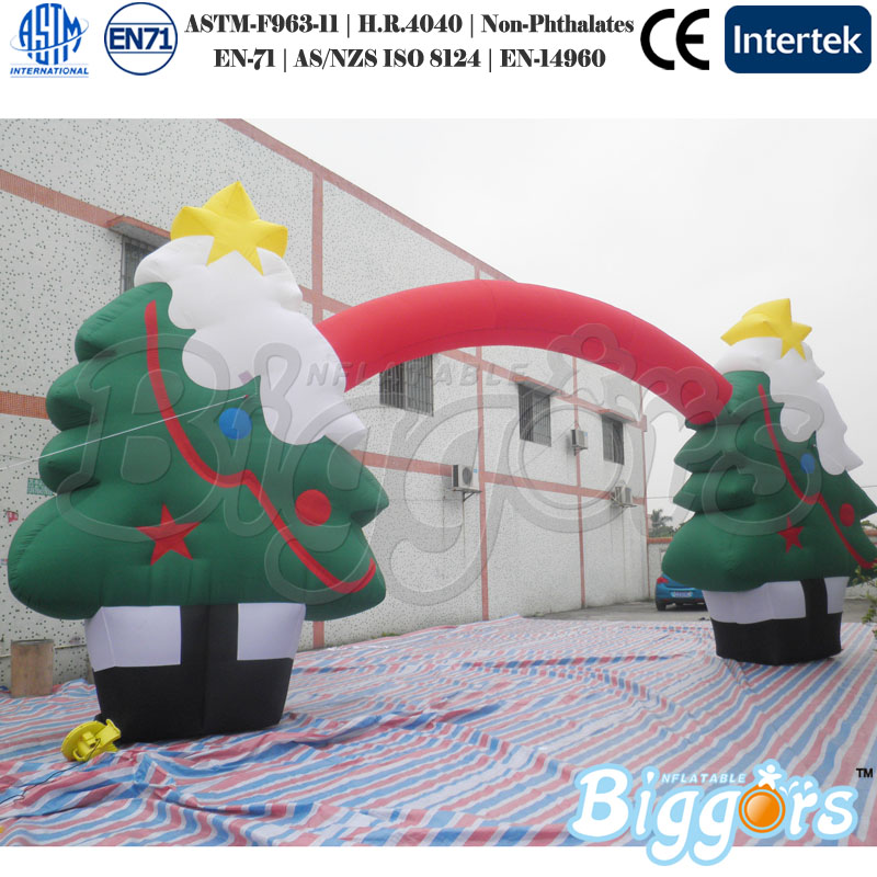 Hot Sale Inflatable Air Dancer Advertising Christmas Tree Decoration Arch