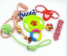 10pack Durable Dog Rope Chew Toy set Interactive dog toys pet toy set for sale