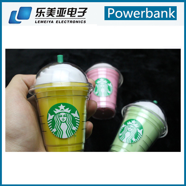 ce rohs fcc china factory competitive price starbucks powerbank in power banks