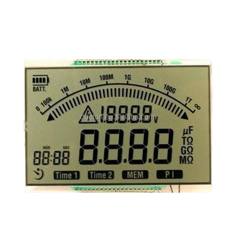 electronic device meter HTN grey transparent LCD