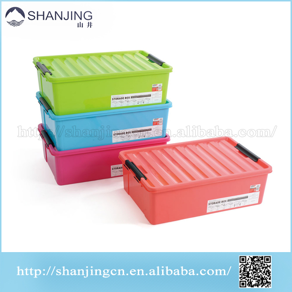 Hot sale High quality colorful plastic storage box with lock