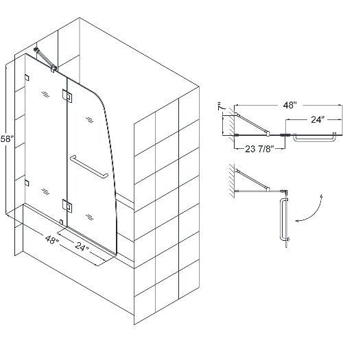 Hinged Glass Shower Doors And Panels : Glass panels hinged bifold doors folding bathtub shower