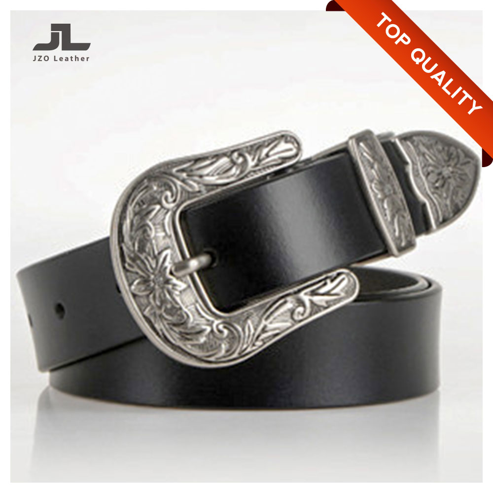 Wholesale Vintage Buckle and Italian Full Grain Woman Genuine Leather Belts