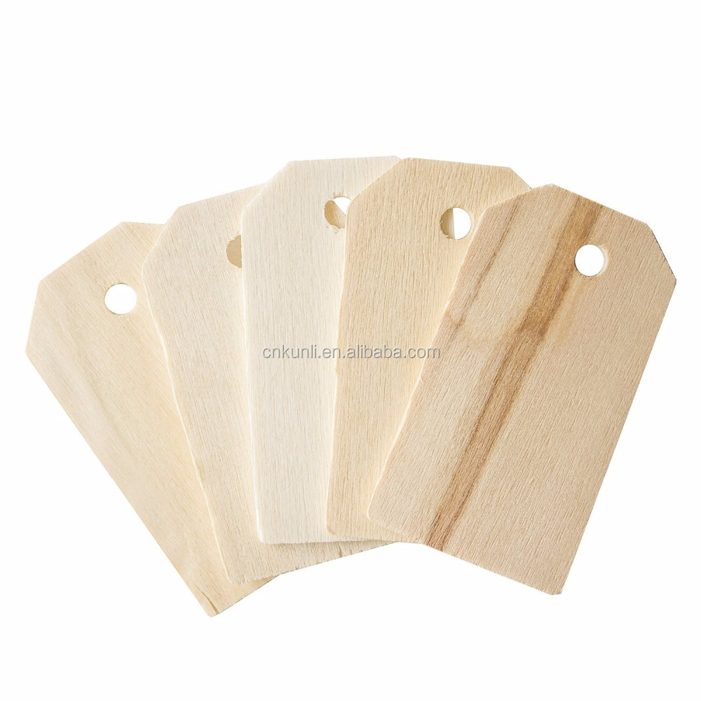 "Custom Blank Wooden Gift Tags Labels 2-1/4"" x 1-1/4"" for Present Party Bags, Wine Bottles, Arts & Crafts, Home Decoration"