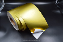 Metallic mirror self adhesive paper roll and sheet