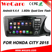 WECARO High End 1080P Android 4.4.4 Touch Screen Special Car Dvd For Honda City 2015