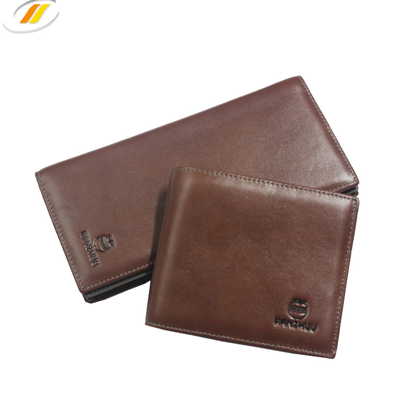 Custom High Quality Men Top Layer Leather Wallet