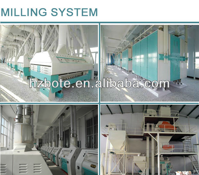 Flour Milling Machines in Corn Processing 100T Maize Flour Production Line Corn Flour Making Plant