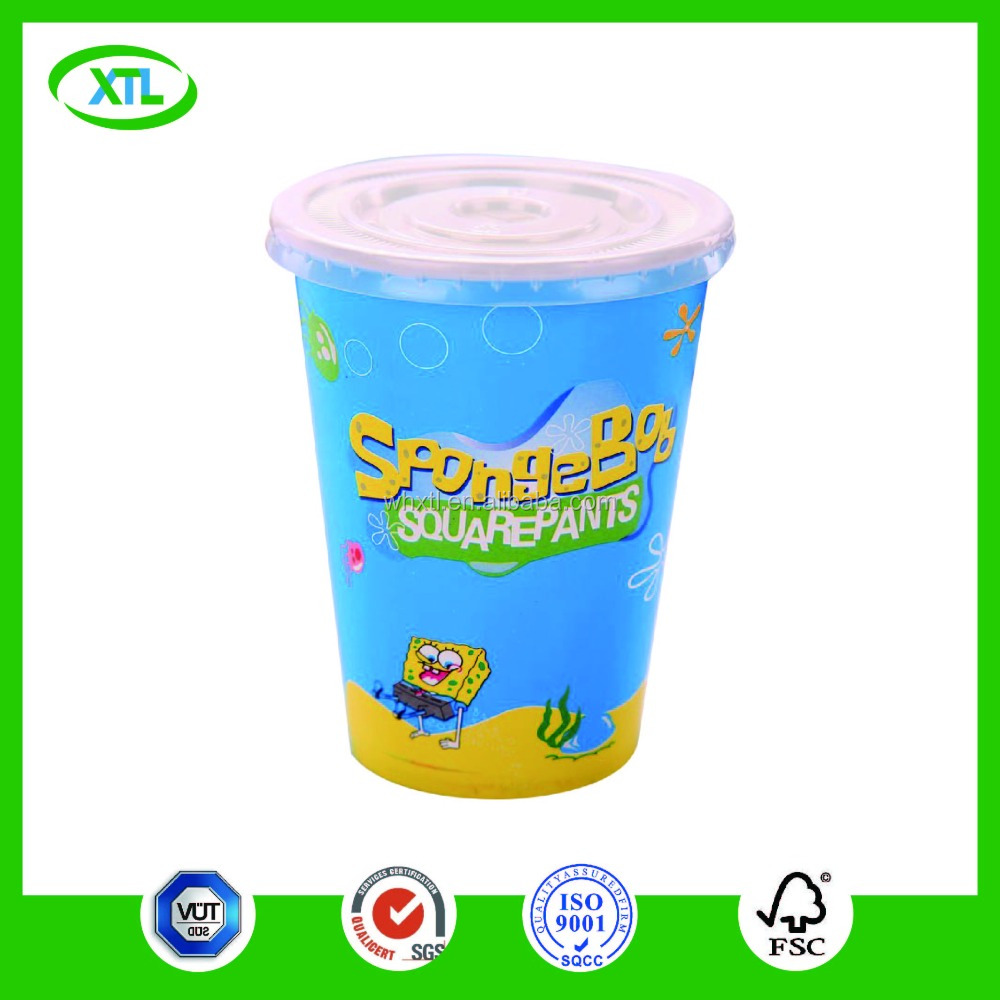 environmental cardboard cups single layer paper mugs for cover on christmas
