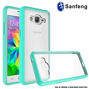 Clear Crystal Hard Back Acrylic Panel TPU Bumper Case For Samsung Galaxy Grand Prime G530H Protective Shell