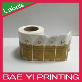 Baeyi Printing Roll Full Color Label Print For Car Used Oil Bottle