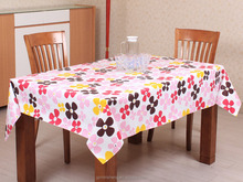 Colorful printing pvc table cloth for wedding