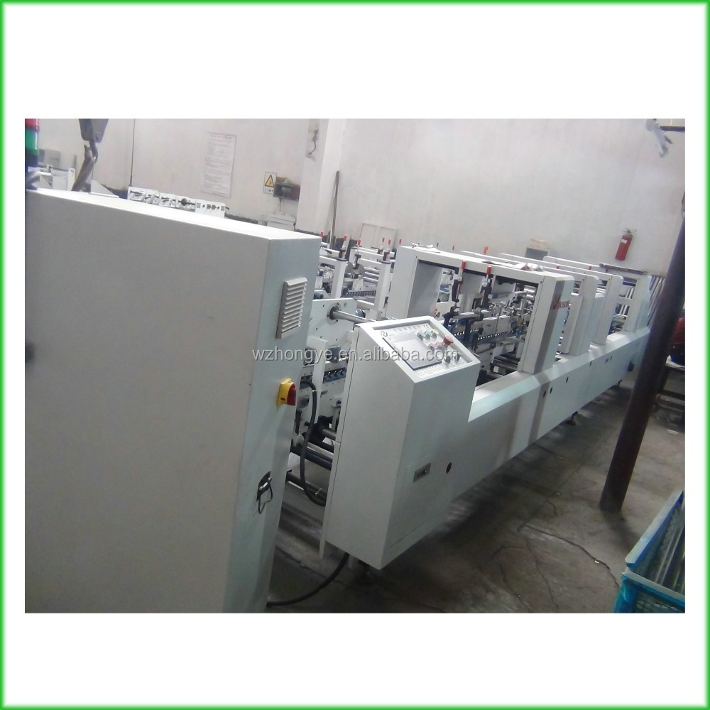 ZH-880BFT Cardboard Box Bottom Lock Folding and Gluing Machine