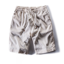 New Summer Men's Linen Casual Chinese Wind Shorts