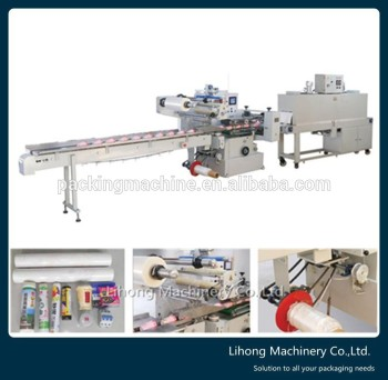 Factory Price Automatic Shrink Wrap Food Tray Packing Machine
