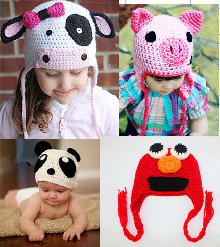 Handmade Animal Cartoon Crochet hat for kids