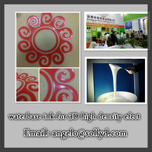 Eco-friendly high density waterbase ink for sport shoes, waterbase ink 3D effect for shoes materials