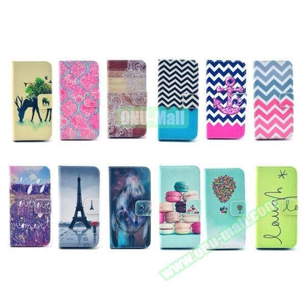 3D Color Printing Craft Cross Texture Wallet Flip Leather Case for HUAWEI Ascend G620S