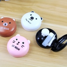 animal contact lens case, funny glasses case, new beauty pupil box bulk buy from china
