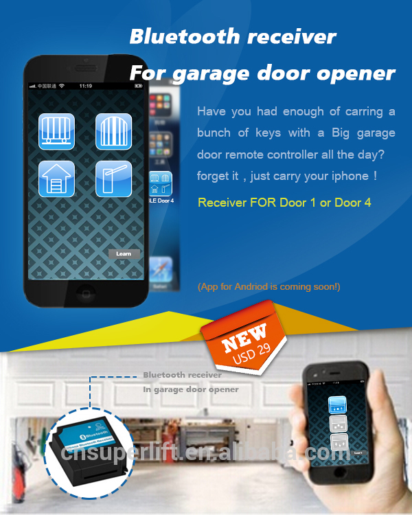Superlift Garage Door Opener With Infrared Sensor Protection