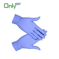 Disposable general use powder free antimicrobial long nitrile gloves