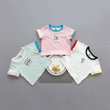 Top Quality China supplier cheap Toddlers Clothing summer embroidery Baby clothes kids t shirt