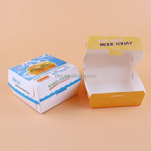 Foods packaging paper boxes.,take away box for burger and sandwiches