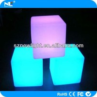 High quality RGB decorative LED cube light / 3d light up LED cube seat and table