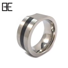Hot Selling Trend Fashion Handmade Jewelry Titanium Silver Ring Magnetic Germanium Energy Jewelry