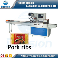 Frozen food / Pork ribs Automatic Punch Horizontal Packaging Machine
