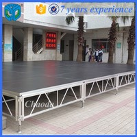 Stable outdoor concert dance assemble wooden stage