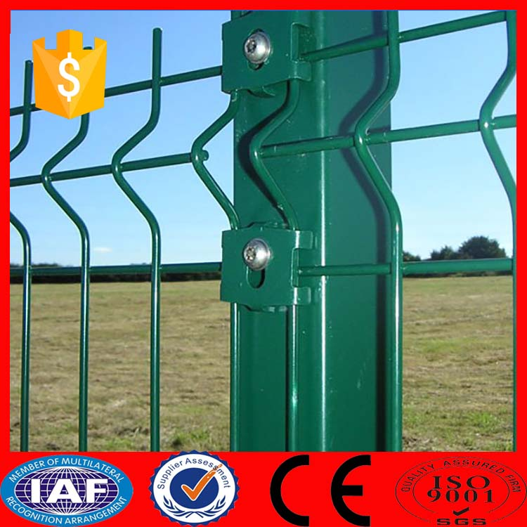 Cheap sheet metal fence panels / curvy welded fence hot sale