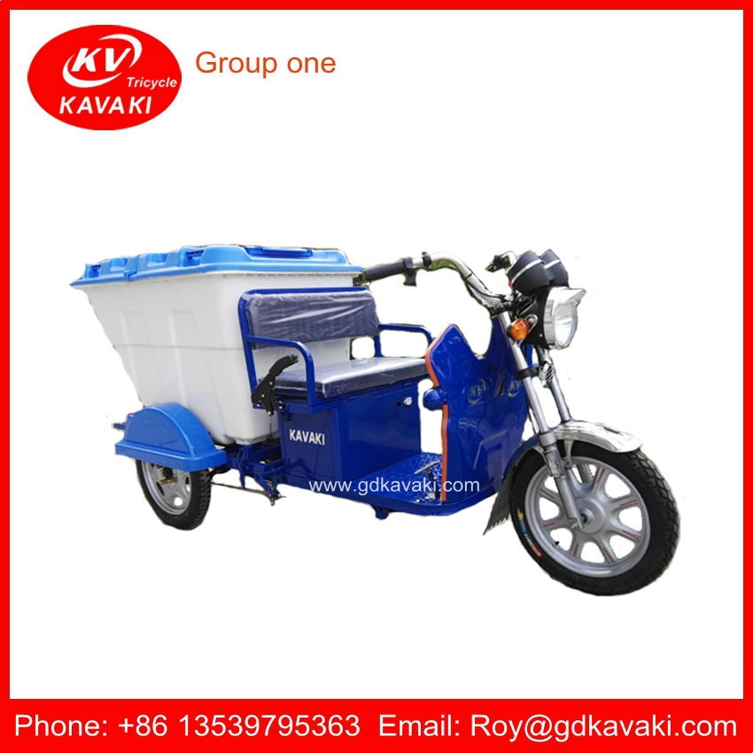 China Manufacturer Factory Green Energy Low Price Electric Cleaning Garbage Tricycle
