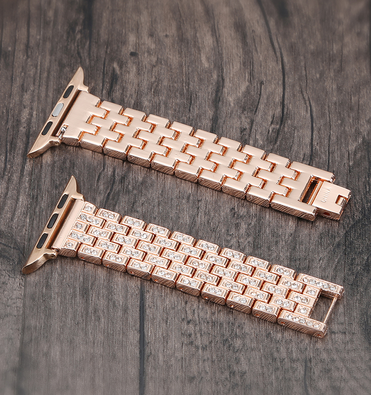 Luxury Diamond Stainless Steel watch band For Apple Watch Series 4 3 2 1