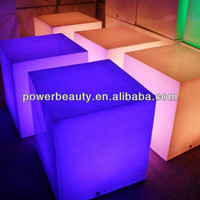 remote control rechargeable cube glowing plastic led acrylic cube