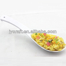 artificial fake egg fried rice Japanese idea food in spoon handicrafts for keychain parts or promotional gift items