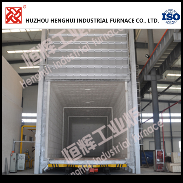 Big trolley type industrial annealing stress relieving furnace